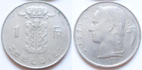 Бельгия 1 франк 1971