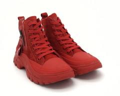 Кроссовки из нат. велюра на шнурках