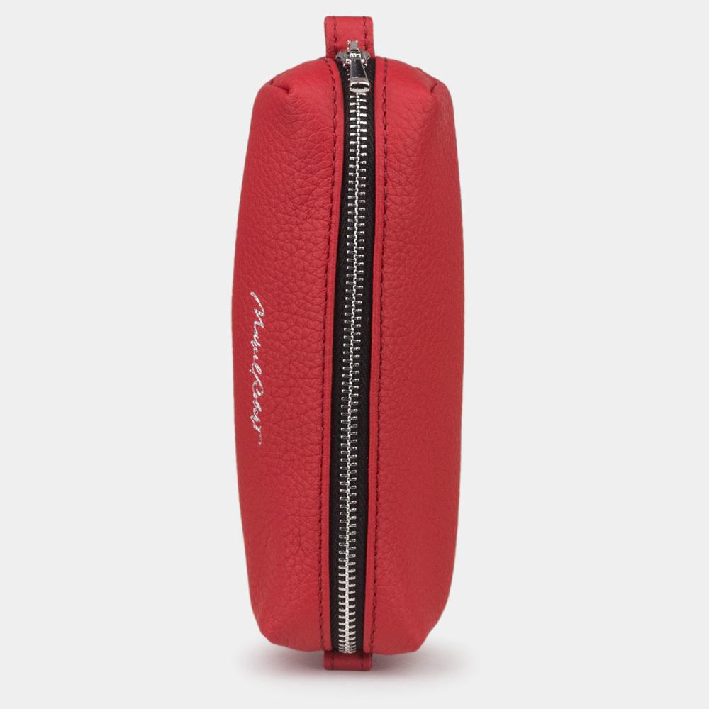 Ключница Cofre Easy из натуральной кожи теленка, красного цвета