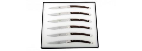Набор из 6 столовых ножей, Forge de Laguiole, дизайн Christian GHION T6 GHION FRD*