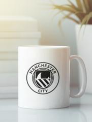 Кружка с изображением FC Manchester City (ФК Манчестер Сити) белая 006