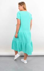 Касіні. Плаття plus size з воланами по низу. М'ята.