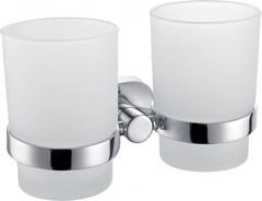 Стакан в ванную AM.PM Sense A74343400 двойной стеклянный, с настенным держателем