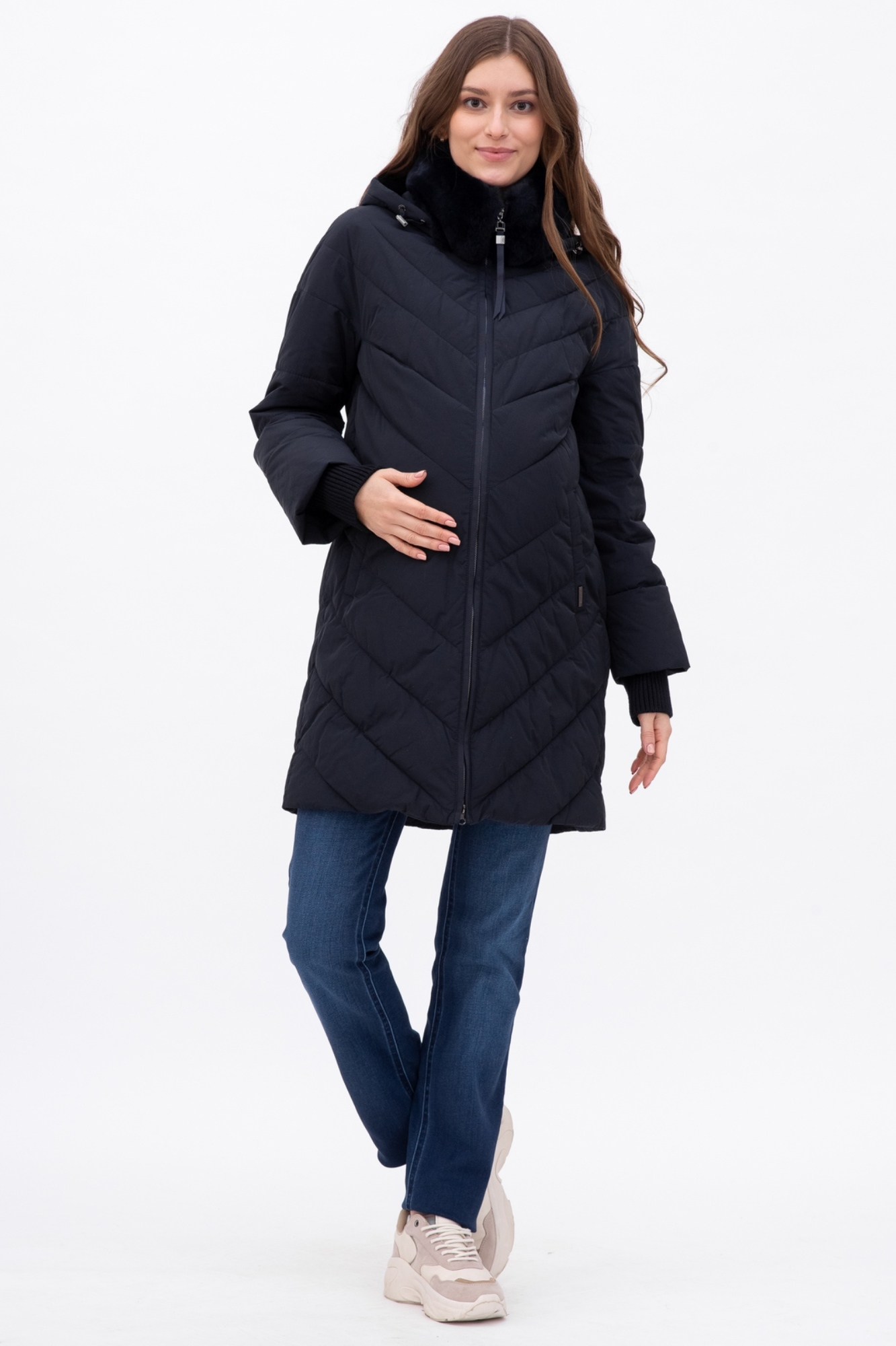 Куртка для беременных 09031 синий