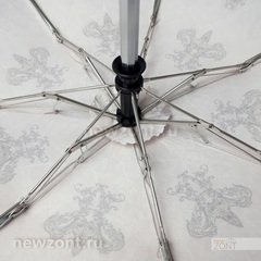 Мини зонт автомат Tri Slona L4700-J в 4 сложения коричнево-бордовый