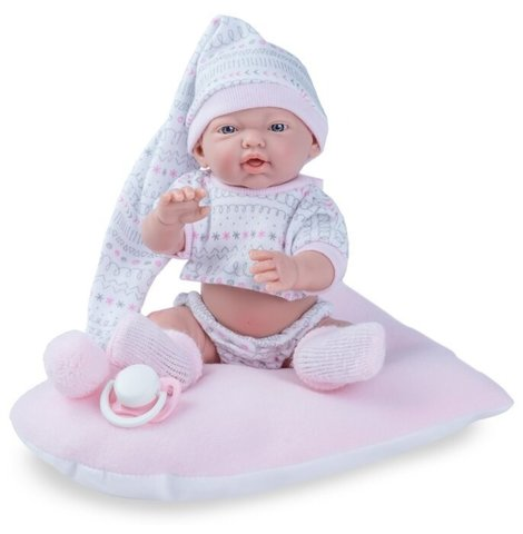 Пупс новорожденный малыш в колпаке Nines d'Onil (девочка)