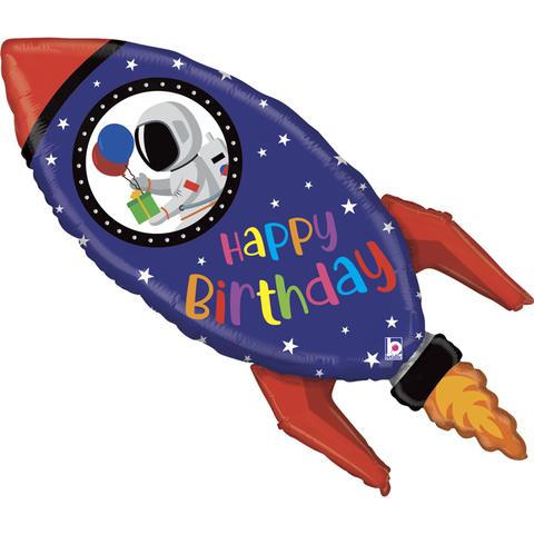 Космическая ракета, С Днем Рождения, 102 см