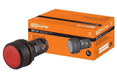 Кнопка SB7-CA45 d22мм 1з+1р красная TDM