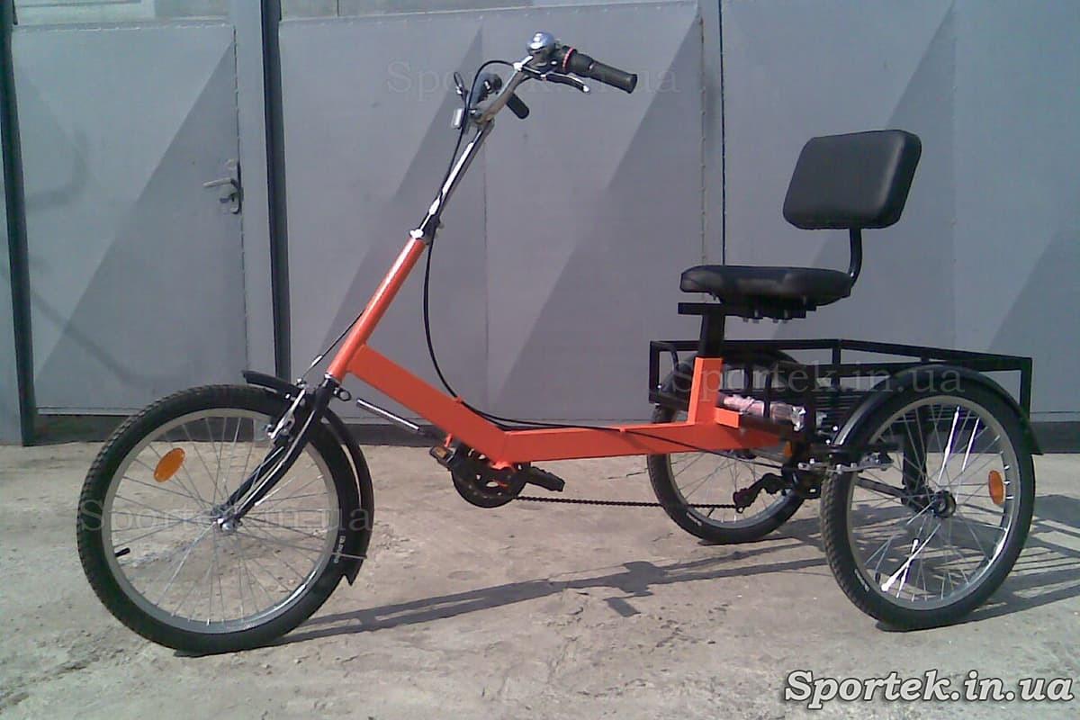 Триколісний велосипед для літніх людей, інвалідів - 'Атлет малий' (червоний)