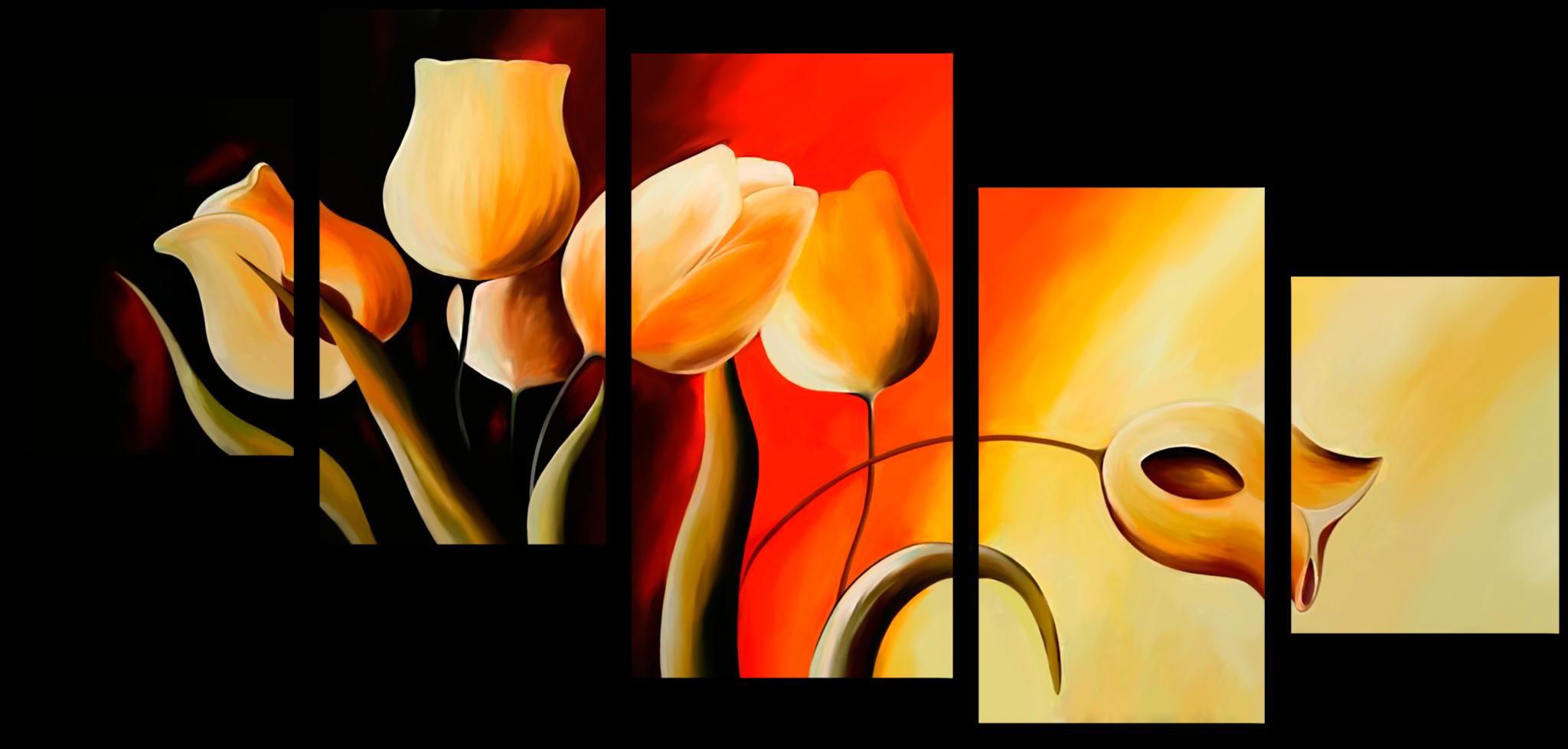 """Модульные картины Модульная картина """"Огненный тюльпан"""" М125.png"""