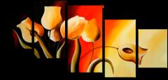 """Модульная картина """"Огненный тюльпан"""""""