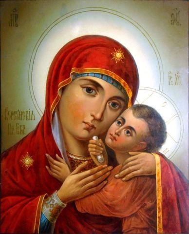 Икона Богородицы Корсунская на дереве на левкасе мастерская Иконный Дом