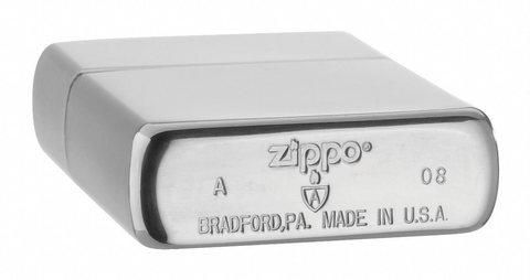 Зажигалка Zippo c покрытием Brushed Chrome, латунь/сталь, серебристая, матовая, 36х12x56 мм123