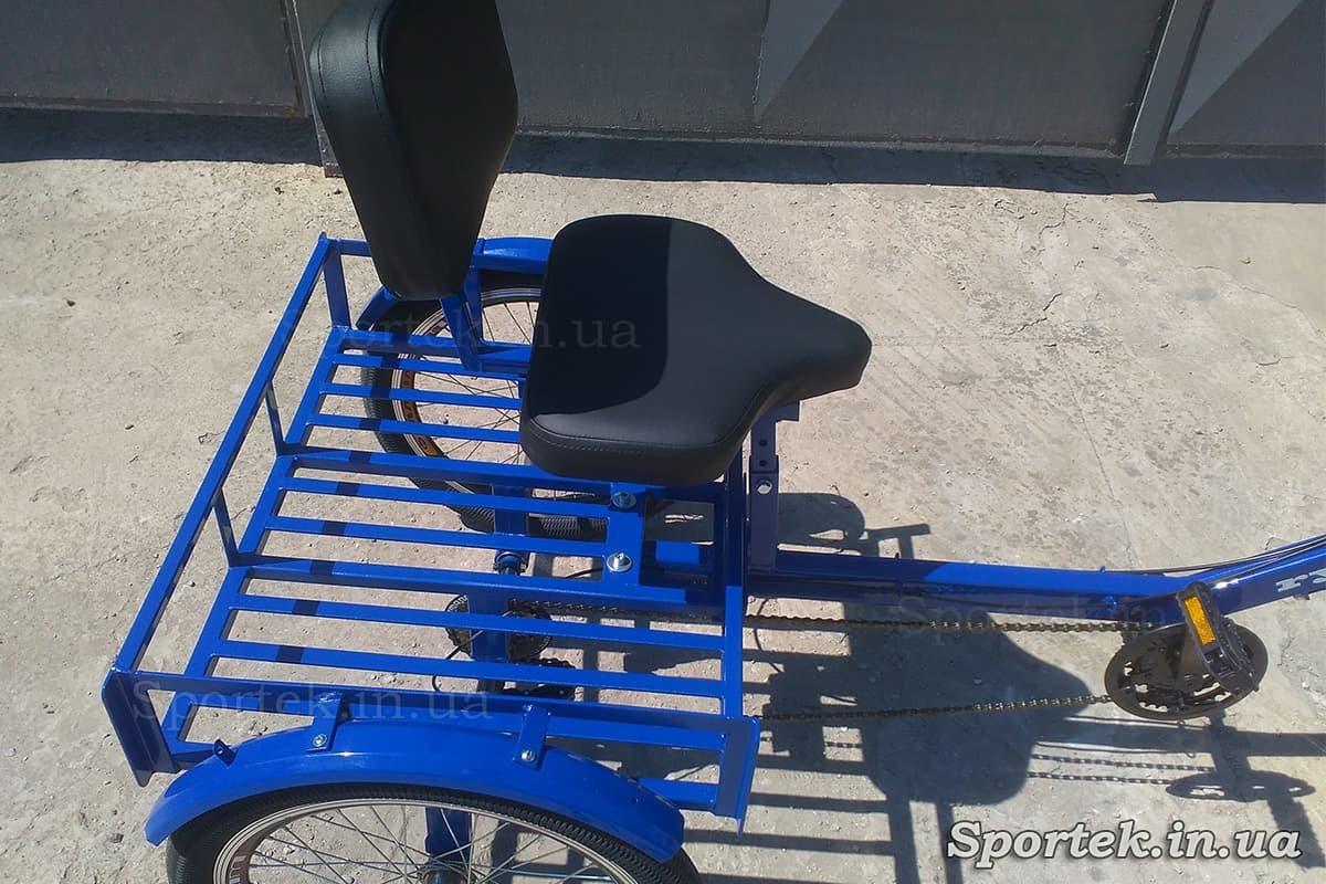 Сидіння і вантажна платформа на триколісних велосипедах 'Атлет' (синій)