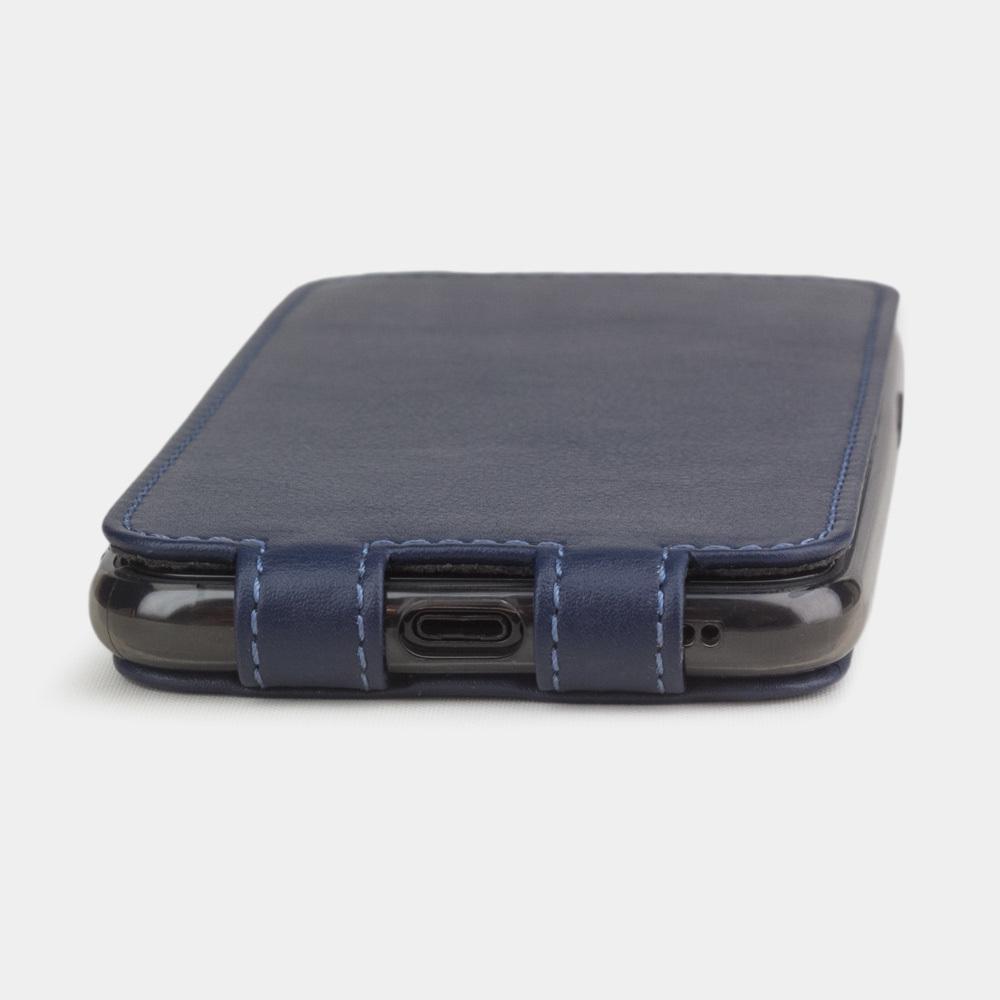 Чехол для iPhone 11 Pro Max из натуральной кожи теленка, цвета индиго