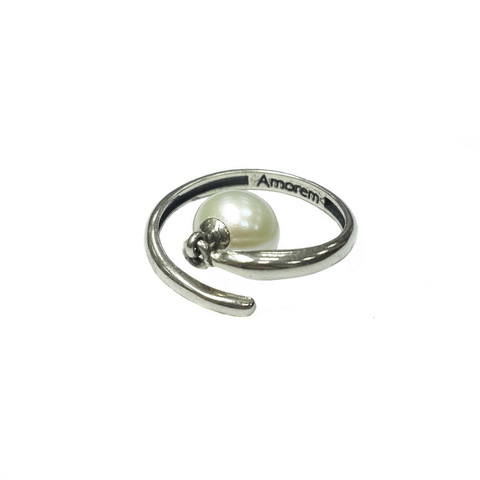 Pearl Ring, Sterling Silver