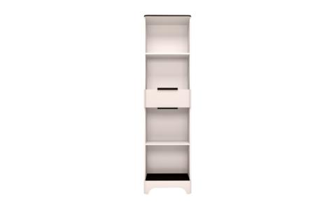 Шкаф-пенал с ящиком Танго 17 Ижмебель белый матовый/черный матовый