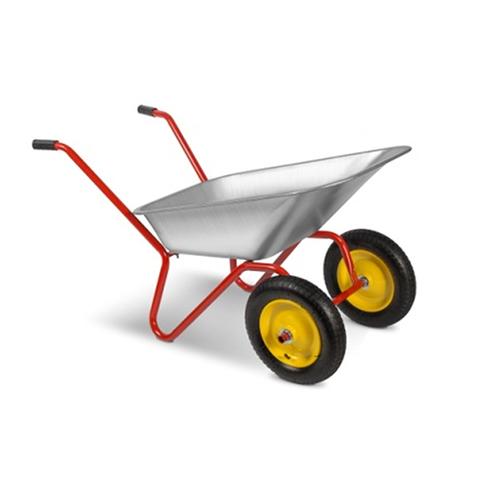 Тачка садовая РемоКолор двухколесная, грузоподъемность 110 кг, объем 80 л