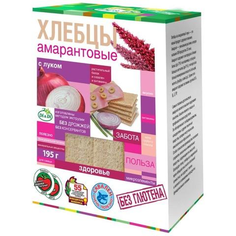 Хлебцы амарантовые с луком без глютена Di&Di, 195г