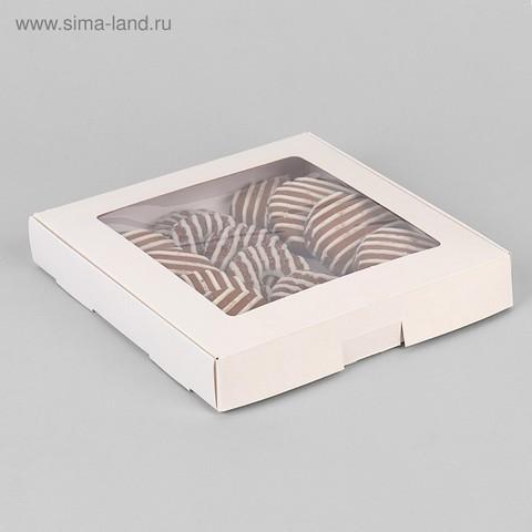 Коробка самосборная бесклеевая ,19*19*3 см