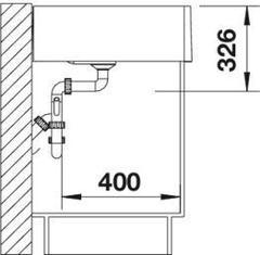 Мойка кухонная Blanco Panor 60 - вид сбоку