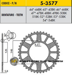 Звезда задняя ведомая Sunstar Rear Sproket 5-3577-48 для мотоцикла Husaberg Husqvarna KTM