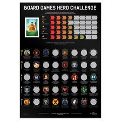 Скретч-постер Boardgames Hero Challenge