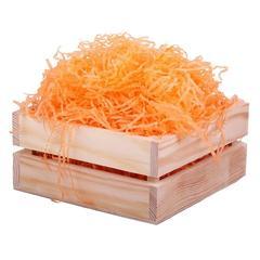 Бумажный наполнитель тишью жатый 0,3 мм 65 г светло-оранжевый