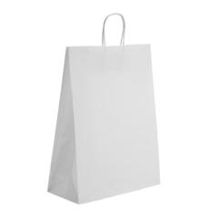 Пакет крафт с ручками белый, 1 шт.