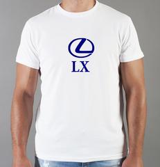 Футболка с принтом Лексус LX (Lexus LX) белая 0022