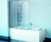 Шторка для ванны Ravak Supernova VS3 - 100 белая + транспарент 795P0100Z1