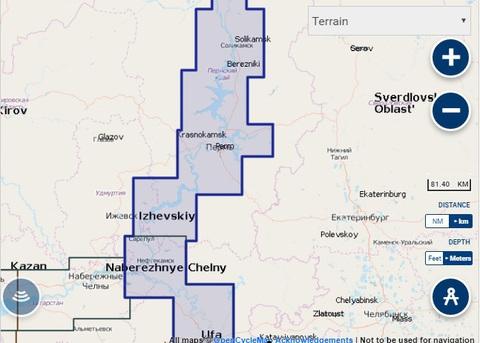 Карта: Река Белая и верхняя Кама, Navionics+ Small 5G636S2
