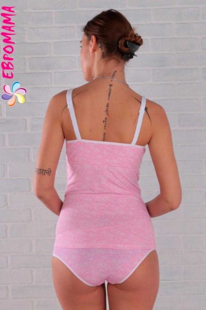 Фото майка для беременных EUROMAMA из натурального хлопка, розовый. Отзывы, характеристики, цены.