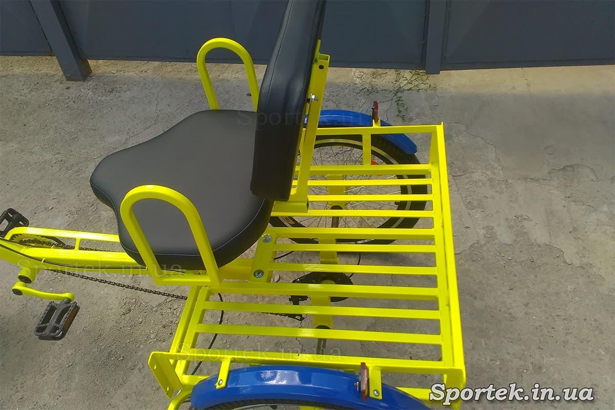 Сидіння і вантажна платформа на триколісних велосипедах 'Атлет' (Жовтий)