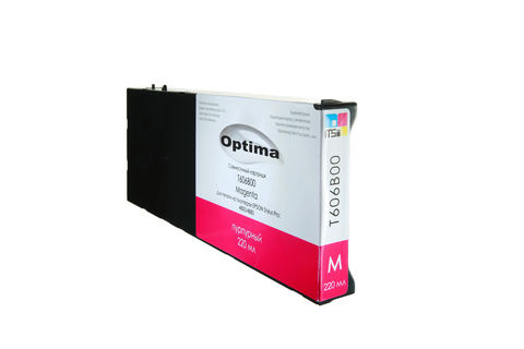 Картридж Optima для Epson 4800/4880 C13T606300 Magenta 220 мл
