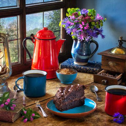 Алмазная Мозаика 40x50 Завтрак с пирогом