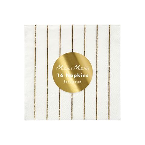 Салфетки в полоску (золотая фольга)