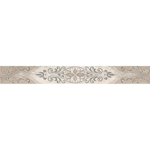 Бордюр Ascoli Grey Classico (7,5x63см) светло-серый (шт.)