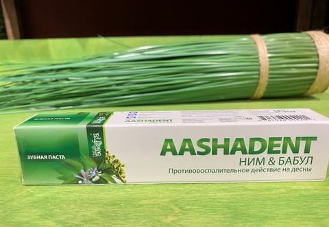 Зубная паста Ним/Бабул AASHA HERBALS, 100 г