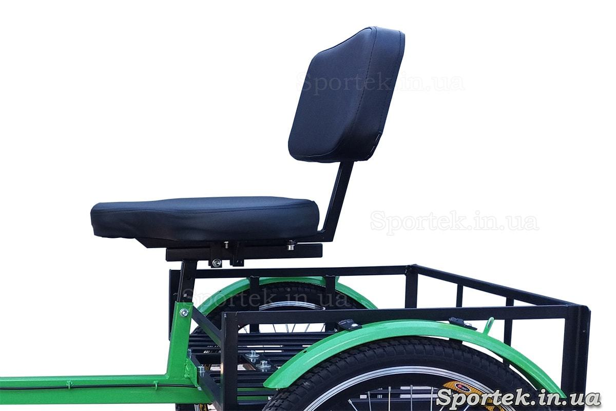 Сидіння і вантажна платформа на триколісних велосипедах 'Атлет' (зелений}