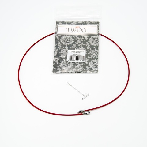 Леска Twist red cable, ChiaoGoo