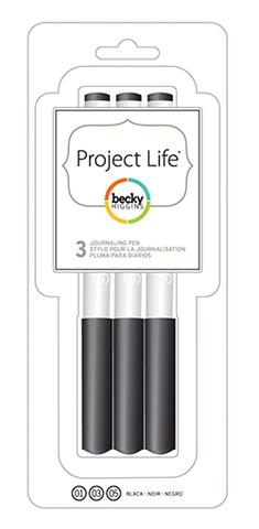 Набор архивных маркеров Project Life 3 шт.