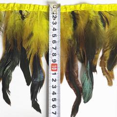 Купить оптом перья Петуха на ленте в интернет-магазине Citrine желтые