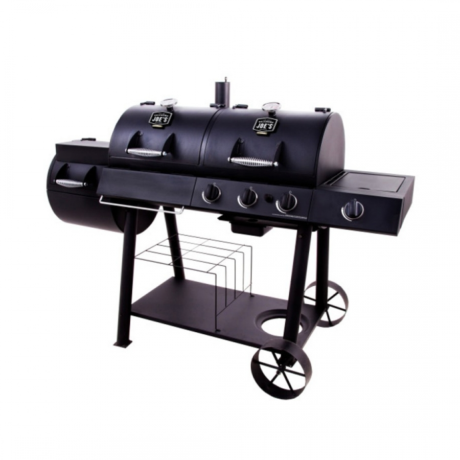 ГРИЛЬ – КОПТИЛЬНЯ JOE'S LONGHORN COMBO CHARCOAL\Gas Smoker & Grill