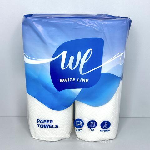 Рушники паперові White Line 2сл. 15 м (2 рул.) Білі (RS002)