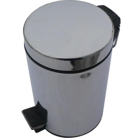 Ведро мусорное с педалью Solinne 12л стальное, хром