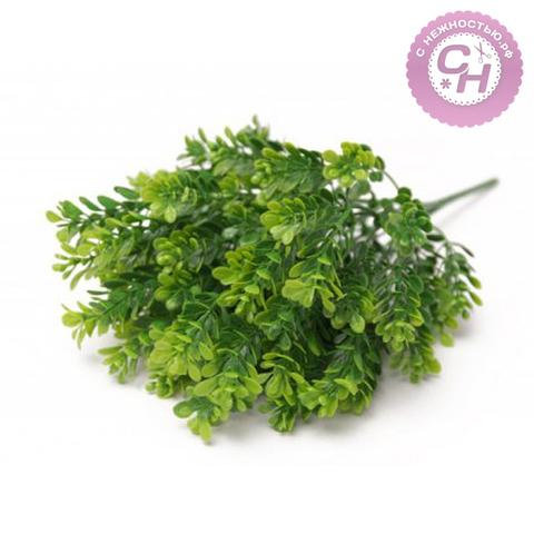 Искусственная зелень Брусничника, букет 7 веток, 35 см.