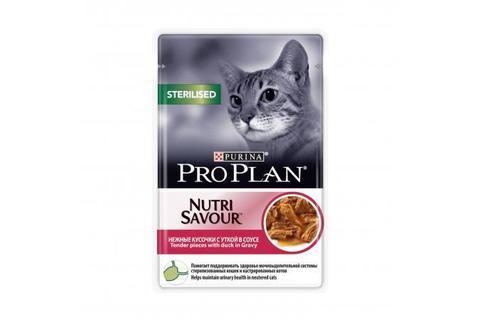 Консервы Purina Pro Plan для стерилизованных кошек и кастрированных котов, утка в соусе,  85 г