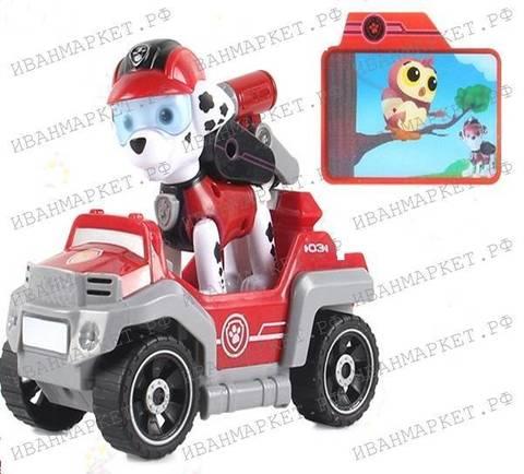 Маршал с машинкой и рюкзаком (Супер Миссия) Щенячий Патруль