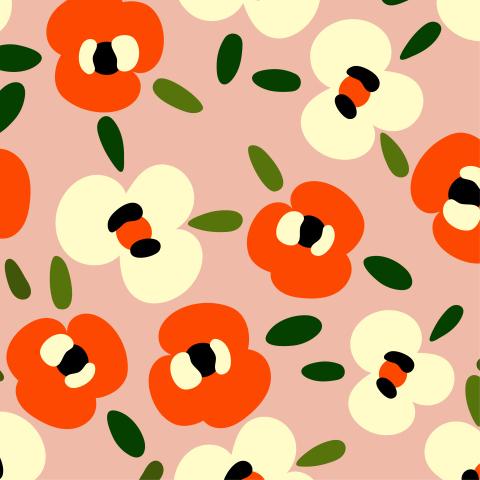 Милые абстрактные цветы
